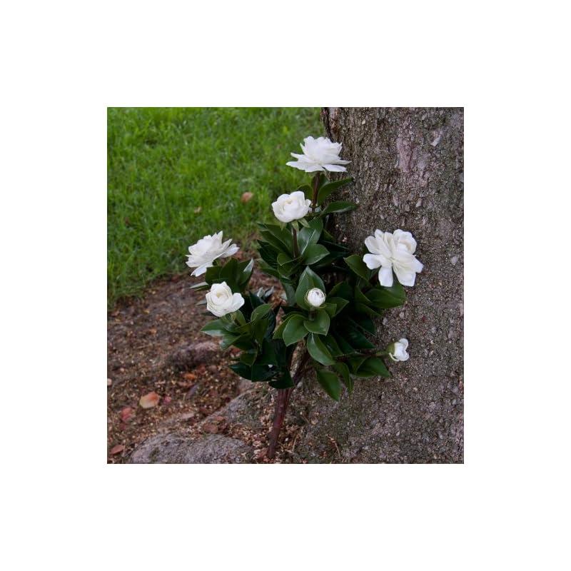 silk flower arrangements windowbox 19 inch outdoor artificial gardenia in white