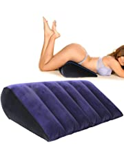 EMPHY Inflatable Position Sex Pillow for Adult Games, Sex Cushion for Couple Sex Toys Position Support Wedge Pillow (Triangle Plus)