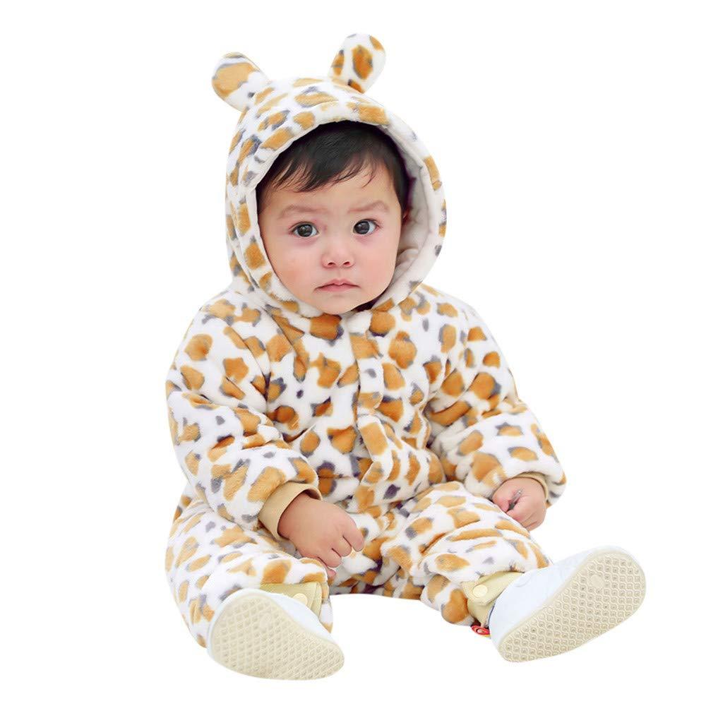 Cinnamou Mono Capuchado de Bebé Estampado Leopordo, Ropa Disfraces Franela Traje Animales Pelele Conjunto de Ropa de Tops y Pantalones en una Pieza para ...