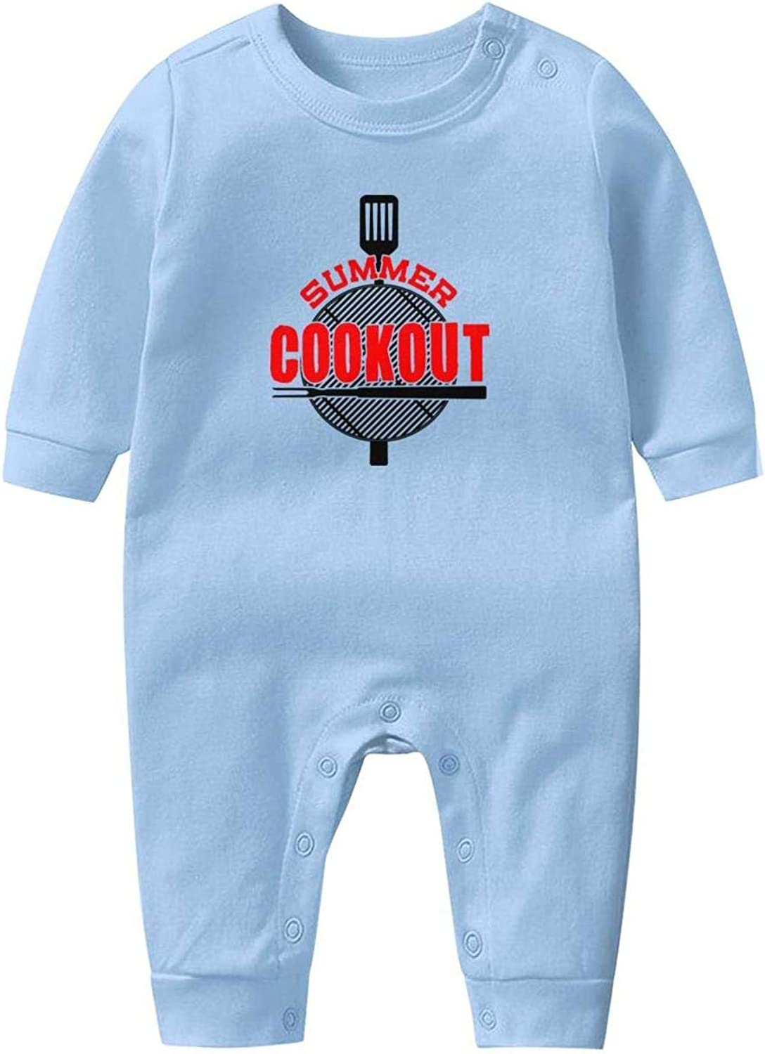 Baby Boys Girls Long Sleeve Baby Onesie Cute Baby Clothes NAKHFBVi Cook-Out-Logo-Symbol