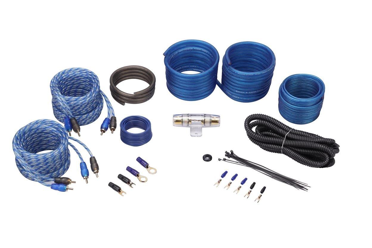 Rockville RWK10 10 Gauge Amp Installation Kit ANL Fuse Holder 100/% Copper RCA Audiosavings