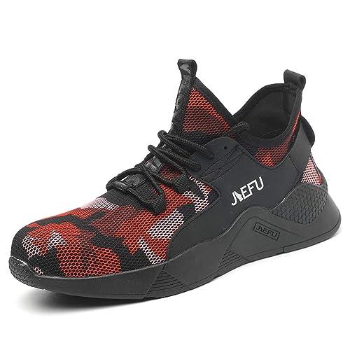Punta Leggere Sneaker Acciaio Donna Lavoro Traspiranti Sportive Di Scarpe Uomo Sroter Antinfortunistiche Da Camuffare BEeQdrCoWx