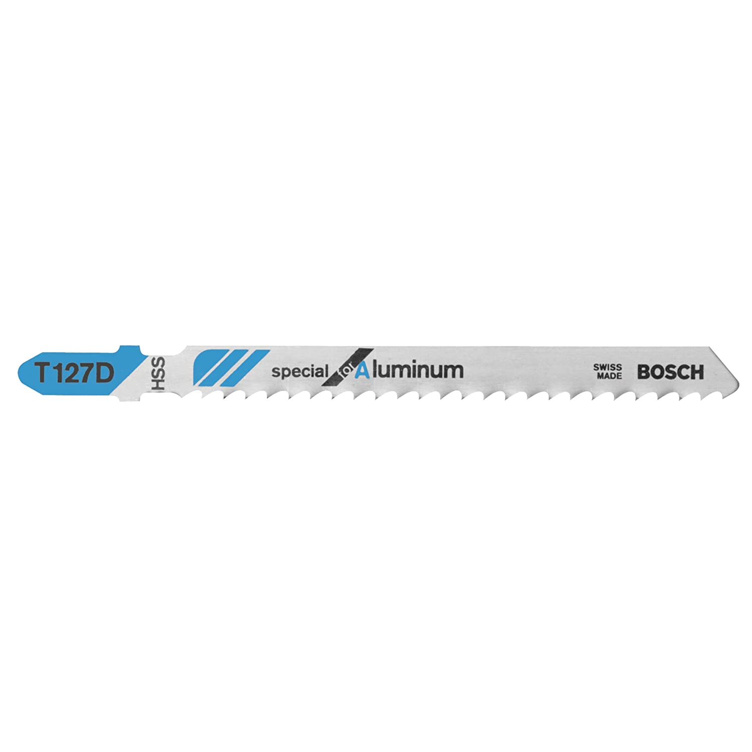 Bosch T127D 5-Piece 4 In. 8 TPI Special for Aluminum T-Shank Jig Saw Blades