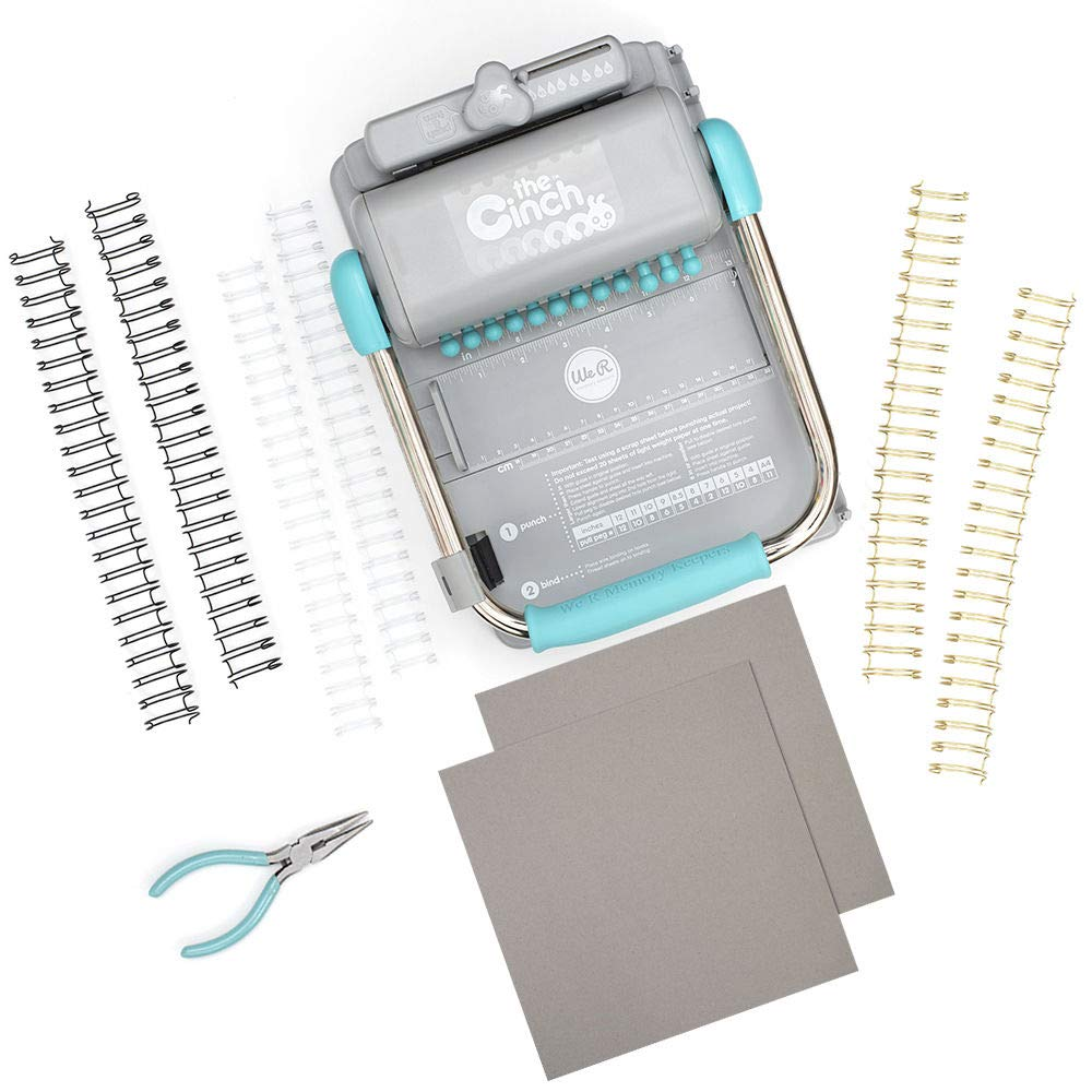 We R Memory Keepers Kit Cinch, Plastic and Metal, Blue, One Size by We R Memory Keepers (Image #1)