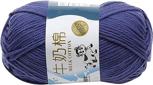 Roblue ovillos de Lana algodón Gruesa para Tejer Manualidades 2.5 ...
