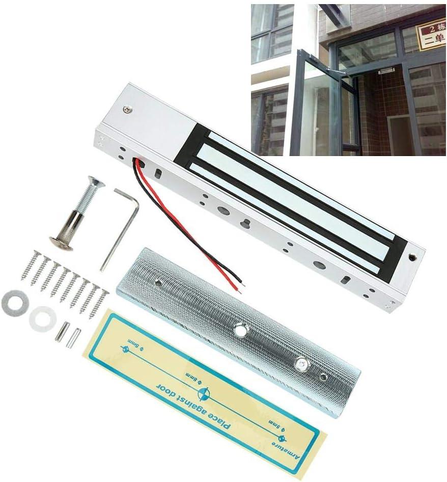 High‑Strength Home Magnetic Lock Easy to Install 280kg//617lb Without Indicatior Light Aluminum Alloy Durable for Wooden Door Metal Door Bicaquu Door Lock