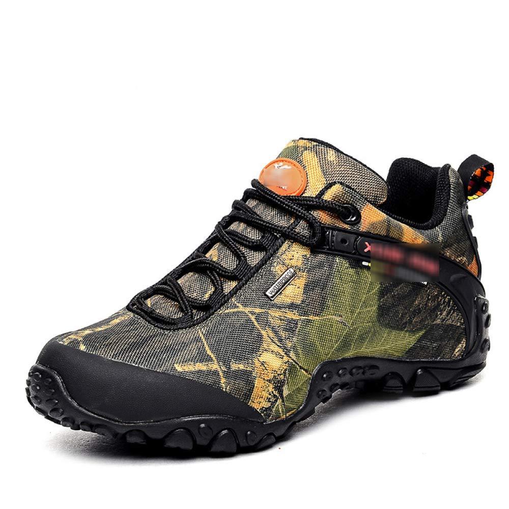 QIKAI Kampfstiefel Frühling Und Herbst Niedrige Hilfe Tarnung Outdoor-Bergsteigen Militärstiefel Wandern Paar Schuhe