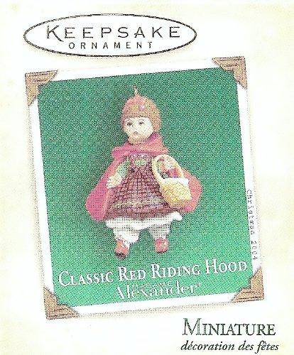Madame Alexander Hallmark Ornaments (2004 Hallmark Ornament Miniature Classic Red Riding Hood Madame)
