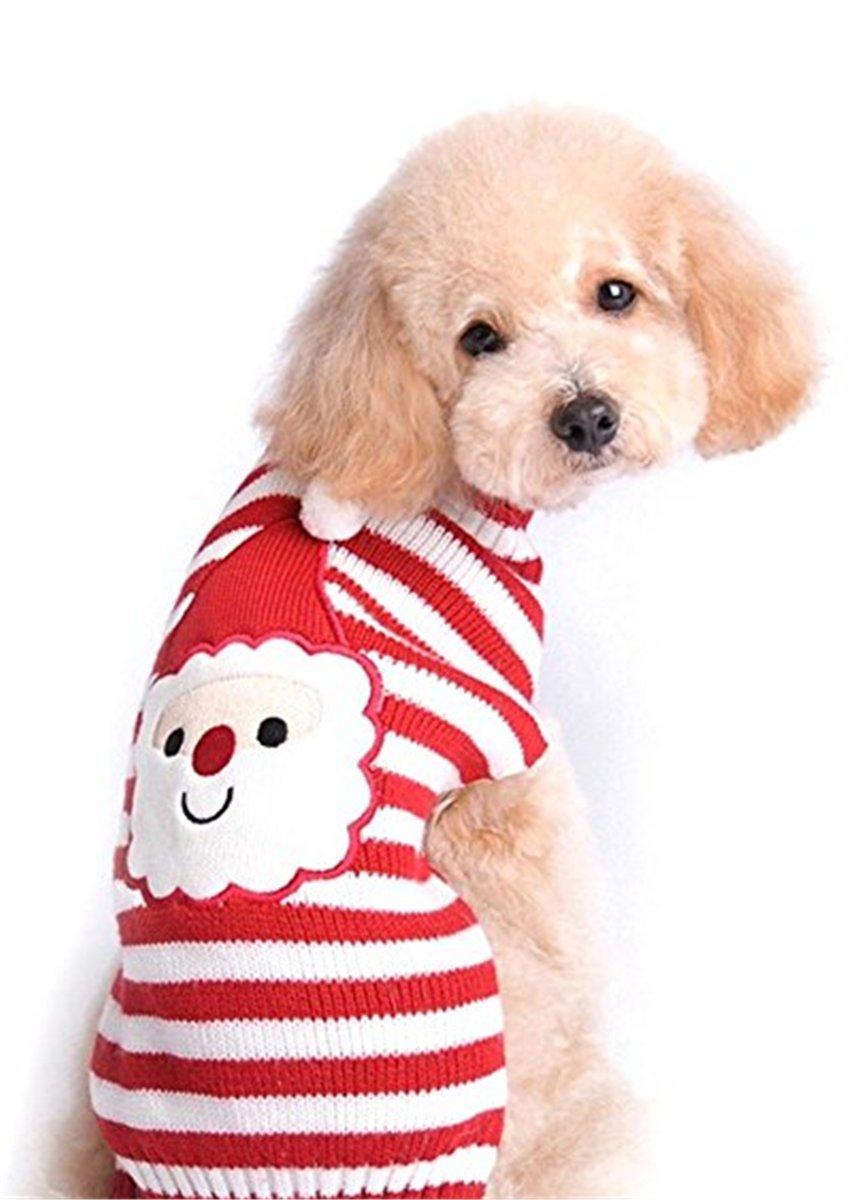 SHUNLIU Ropa para Perro Jersey de Mascota de Santa Claus Ropa de Perro de Punto Perros Pequeños Medianos y Grandes: Amazon.es: Productos para mascotas
