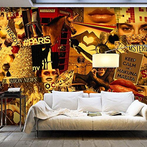 Vlies Fototapete 500x280 cm - 3 Farben zur Auswahl - Top - Tapete - Wandbilder XXL - Wandbild - Bild - Fototapeten - Tapeten - Wandtapete - Collage Stadt City i-A-0113-a-c
