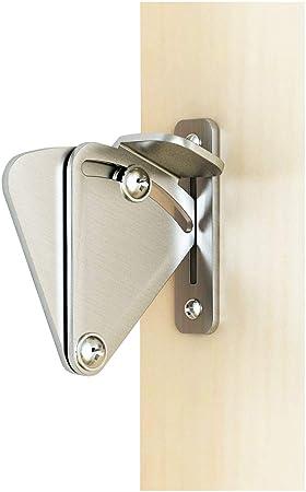 DIYHD Acero Inoxidable Cerradura para puerta de granero corredera de madera para puerta: Amazon.es: Bricolaje y herramientas