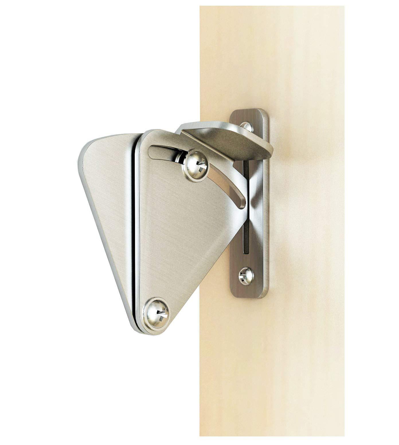 DIYHD Stainless Steel Lock for Sliding barn Door Wood Door Latch (Medium)
