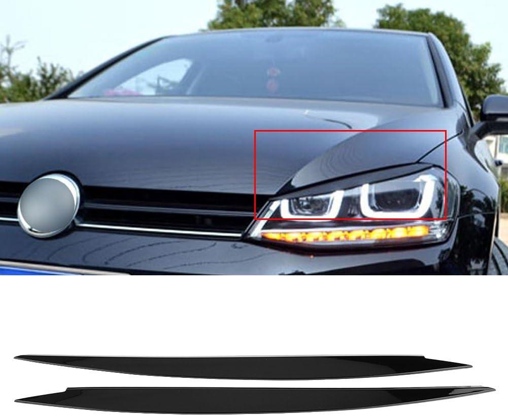White Headlight Eyebrow 1 Pair Headlight Eyebrow Eyelids Trim Cover for V W G olf 7 GTI 2013-2018