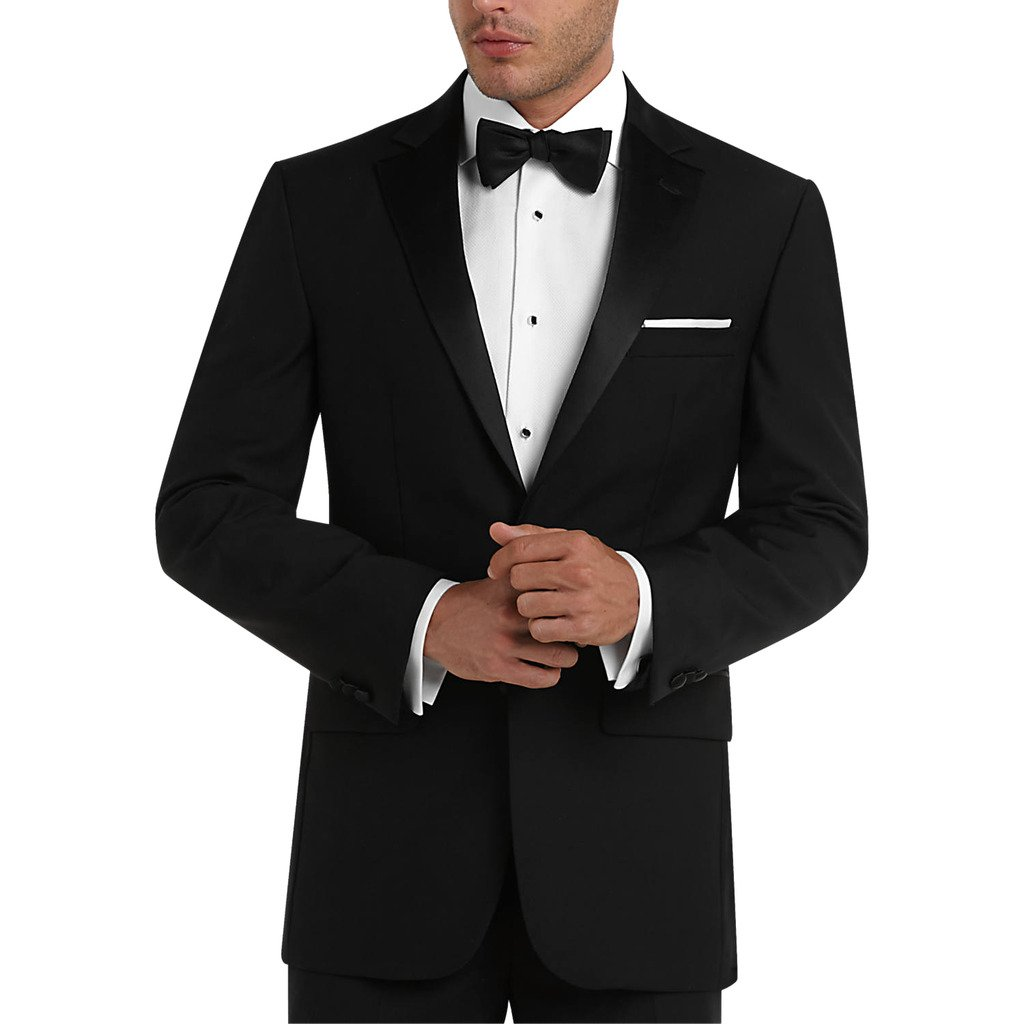 Adam Baker Men's Modern Fit Two-Piece Notch Lapel Formal Tuxedo Suit Set RBTS-2