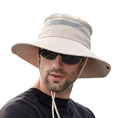 le plus fiable luxe modèles à la mode SIYWINA Chapeau Soleil Homme Femme Outdoor Anti UV Bucket Hat de Voyage  Safari Casquette