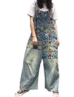 Amazon.com: YESNO P91 Women Strap Rompers Jumpsuits Denim ...