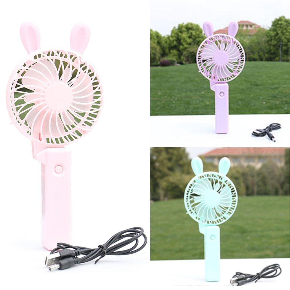 1pc Color Random Mini Portable Fan,Travel Personal Fan USB Rechargeable, Lightweight Handheld Cooling Fan, Electric Desktop Air Fan for Travel, office,Home Outdoor Activity (tiny fan)