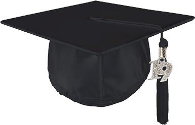 GRADUATION UNISEX ADULT MATTE GRADUATION CAP BLACK WITH 2019 DATE TASSEL