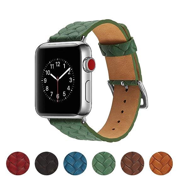 Amazon.com: Smartwatch Bands 38/40/42/44mm Genuine Leather ...