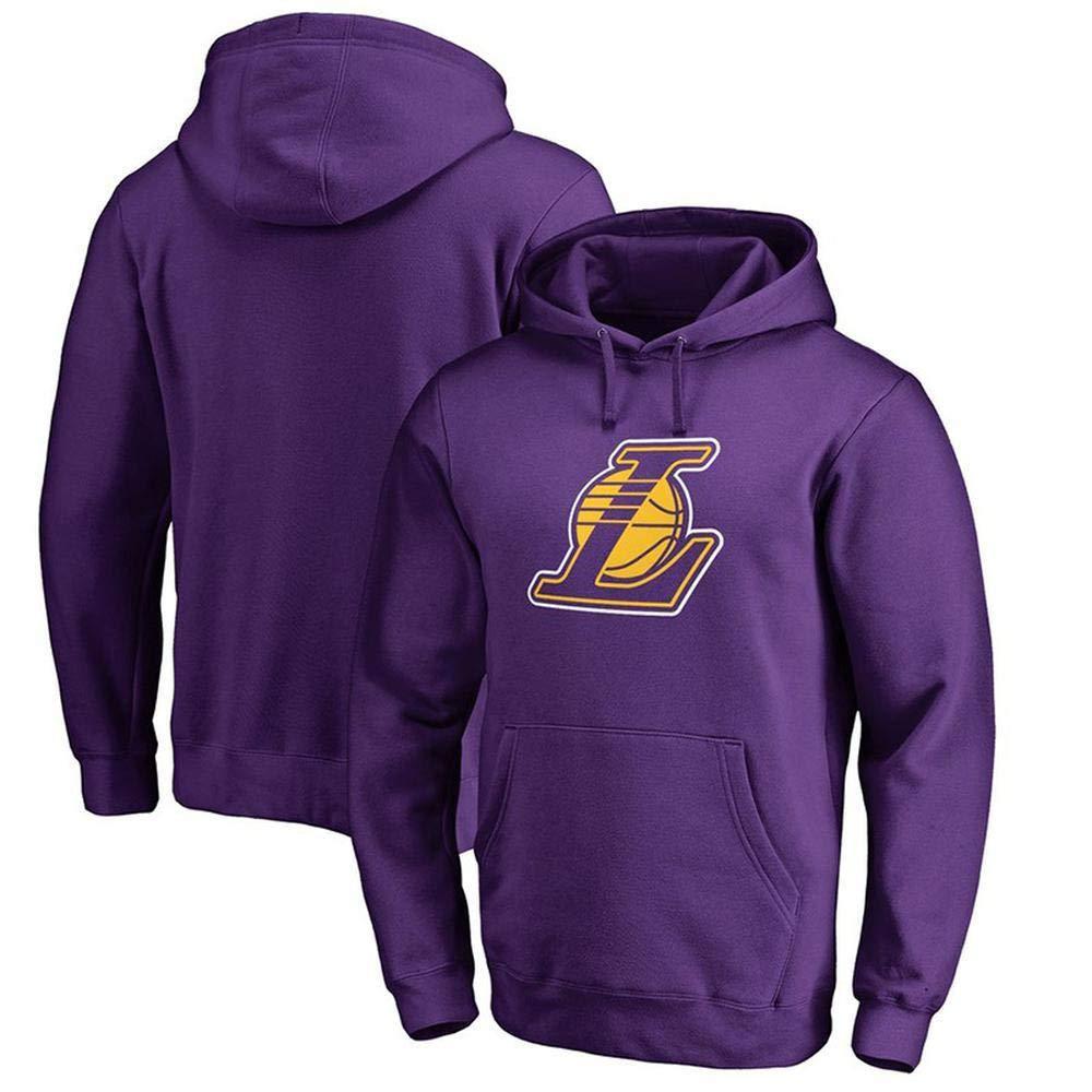 violet1 Medium WSX NBA sweat à capuche L.A Laker Mode Hommes Basketball Pull Chandail Jeunes Décontracté Haut T-Shirt Lakers,noir2-L