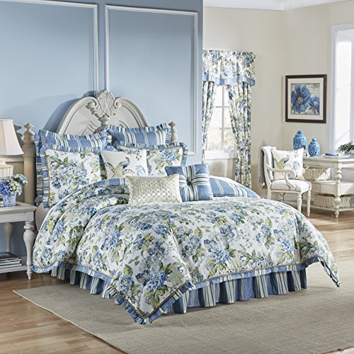 WAVERLY Floral Engagement Bedding Collection, Queen, - Bouquet Ballad Waverly