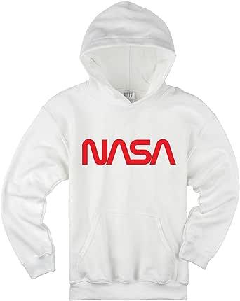 ARTIST NASA - Sudadera con capucha y logotipo de Worm rojo