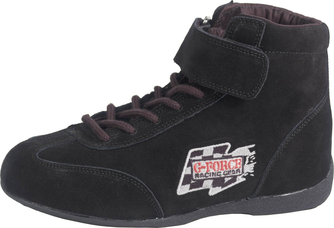 G-Force 0235140BK RaceGrip Black Size-140 Mid-Top Racing Shoes