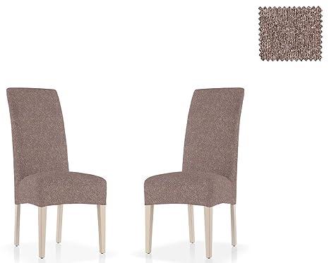 Jm textil confezione da 2 fodere multi elastiche per sedie con