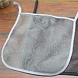 Dolland Baby Stroller Organizer Bag Portable Space Saving Storage Mesh Bag,Gray