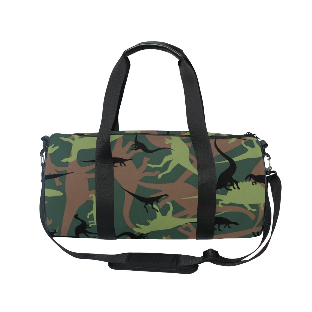 Naanle Dinosaur Camouflage Pattern Army Military Texture Camo Gym bag Sports Travel Duffle Bags for Men Women Boys Girls Kids by Naanle (Image #2)