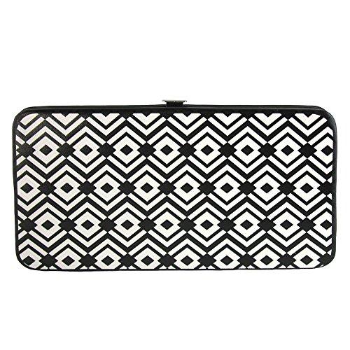 Hinge Wallet (Buckle-Down Hinge Wallet - Aztec2 White/Black)