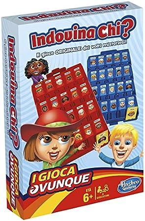 Hasbro-B1204103 quién, Juego de Viaje, versión Italiana (f08-MB-1204): Amazon.es: Juguetes y juegos