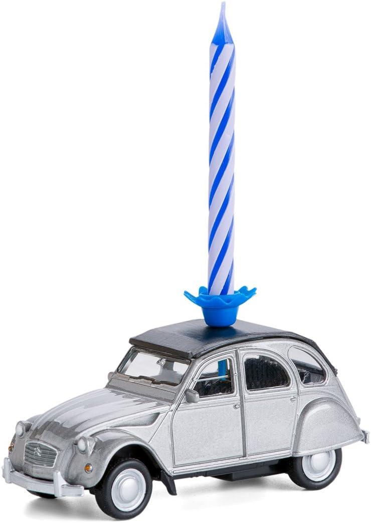 corpus delicti :: Vela de cumpleaños sobre Ruedas - Citroën 2CV - el Regalo de cumpleaños para Todos los Aficionados de Dos Caballos (Plata)