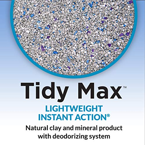 Purina Tidy Cats LightWeight Clumping Cat Litter, Tidy Max Instant Action Multi Cat Litter - 17 lb. Box