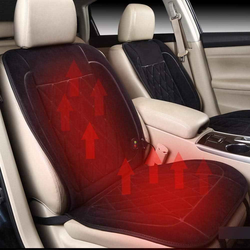 /Beheiztes Auto Sitzkissen 12 V Tragbare Auto Heizkissen Flammhemmendes Material Vorne Diamant Samt Reverse rutschfeste Vlies 108x52 cm