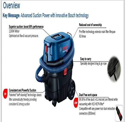 BOSCH Wet/Dry VACCUM Cleaner 25ltrs