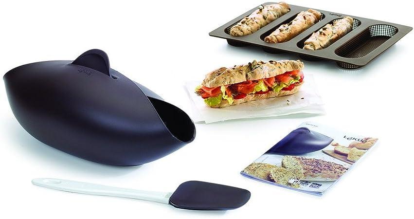 Lékué Kit para Hacer Pan, Silicona, marrón, 30 x 25 x 15 cm: Amazon.es: Hogar