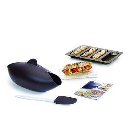 Lékué Kit para Hacer Pan, Silicona, Negro, 30 x 25 x 15 cm