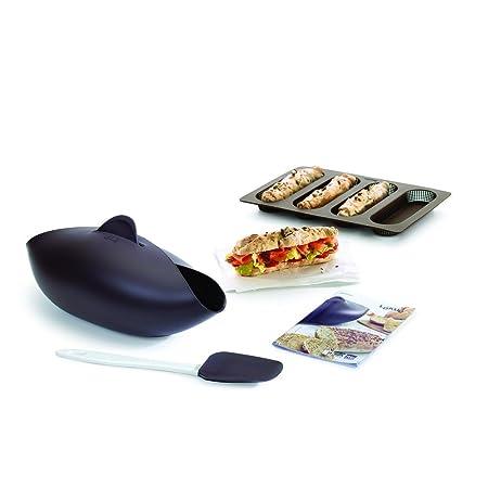 Lékué Kit para Hacer Pan, Silicona, marrón, 30 x 25 x 15 cm ...