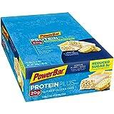 PowerBar Protein Plus Reduced Sugar Bar, Lemon Poppyseed, 2.12 oz Bar, (15 Count)