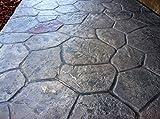 New Random Stone Concrete Stamp Single by Walttools | Decorative Stone Tile, Rotational Pattern, Sturdy Polyurethane Flexible Texturing Mat, Realistic Detail