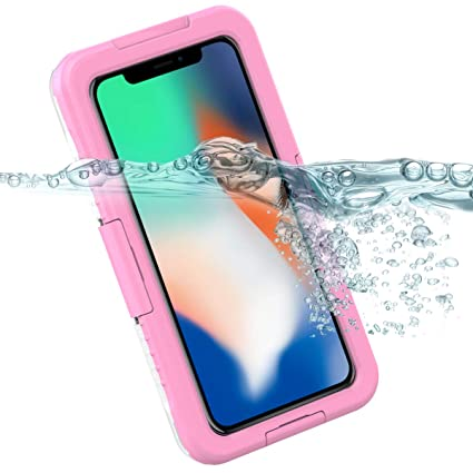 brand new e74d0 d36fc Amazon.com: Waterproof Case for iPhone 9 Plus Back case 360 All ...