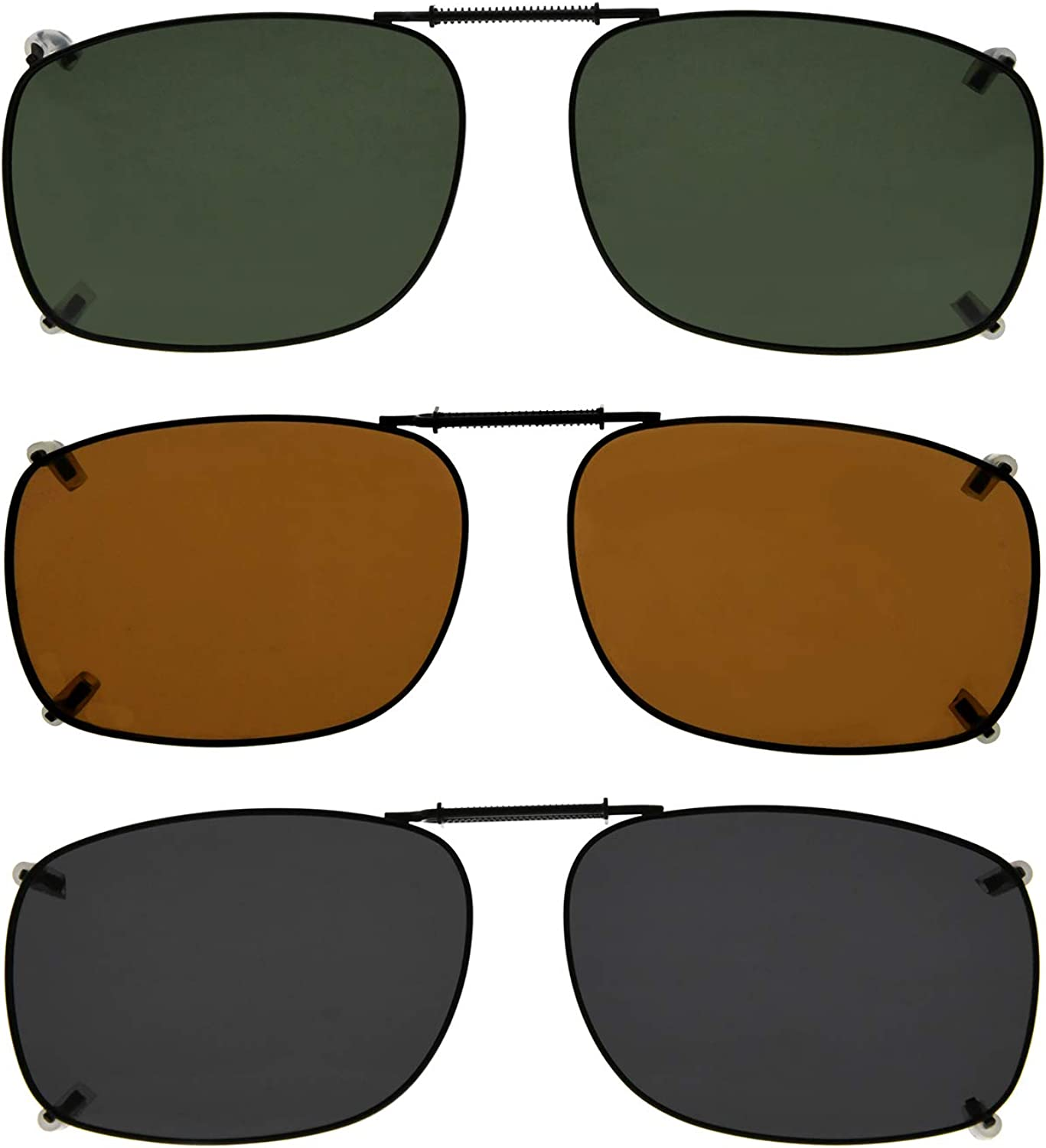Eyekepper Easyclip Spring Polarized Clip On Sunglasses