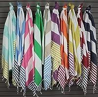 "Swan Comfort 100% Cotton Pestemal Turkish Bath Towel, 39"" x 70"""