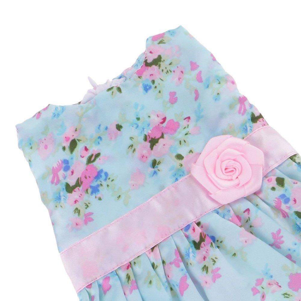 a232a8bf5e75a Mini-poupées et accessoires PanDaDa Vêtement de Poupée Robe Floral  Multicolore en Tissu Accessoires pour 18 Pouces American Girl Dolls Jouet  Enfant Fille ...