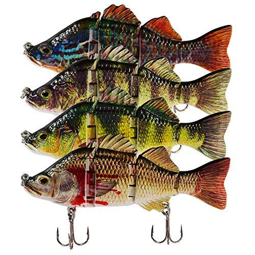 ROSE KULI Fishing Lures Multi Jointed Swimbait Lifelike Fish Lure Tackle Kits ()