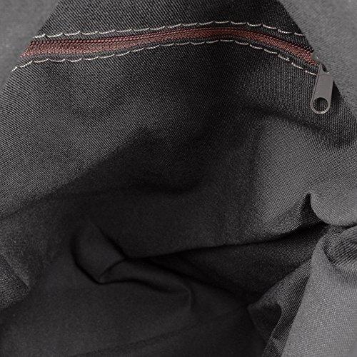 à ITALIENNE ARTEGIANI Sac 24x31x15 FIRENZE 'casual' Tamponato cuir à en fini Femme IN cuir Sac Poignée Sac à cuir Couleur en cm ITALY PELLE en véritable dos Noir NOIR main MADE dos VERA zPqdpwq