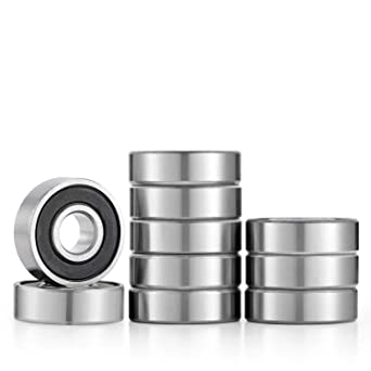 Donepart 608rs Bearings 608 2rs Skateboard Bearings 8mm X 22mm X 7mm C3 High Speed For Fidget Spinner Scooters Skateboard Longboard 3d Printer 10 Pack Amazon Com Industrial Scientific