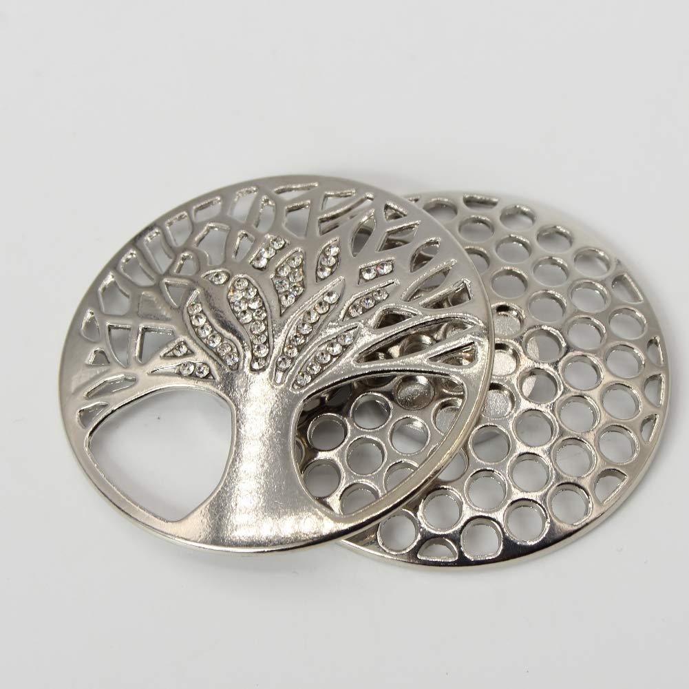 Magnet Tuchhalter Magnetbrosche Kreis mit schönem Stein in der Mitte