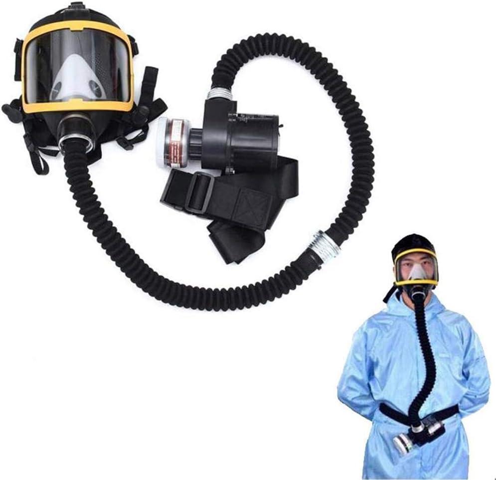 ZDD Máscara antigas, Máscara de Gas - 3M con Ventilador Doble, para protección de Paintball, Airsoft